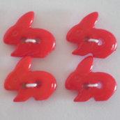 bottoni coniglietti rossi 4 pz