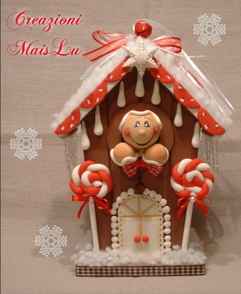 La casetta dei Ginger con decorazioni in pasta di mais