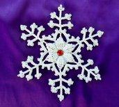 Fiocchi di neve all'uncinetto, decorazioni natalizi