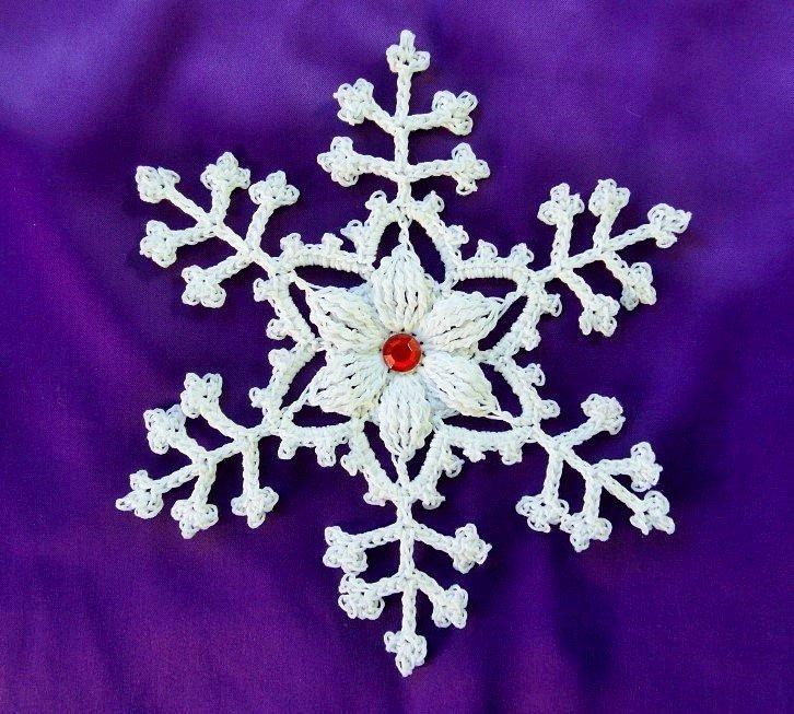 Fiocchi di neve all uncinetto decorazioni natalizi - Decorazioni uncinetto ...