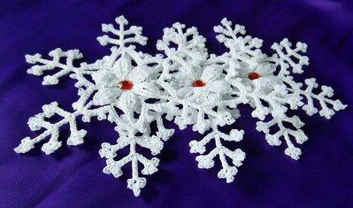 Fiocchi Di Neve Alluncinetto Decorazioni Natalizi Feste Natal