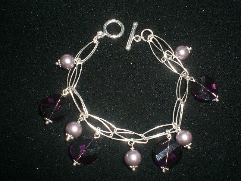 Cod. 0027 - Bracciale doppia catena e cristalli svarowsky
