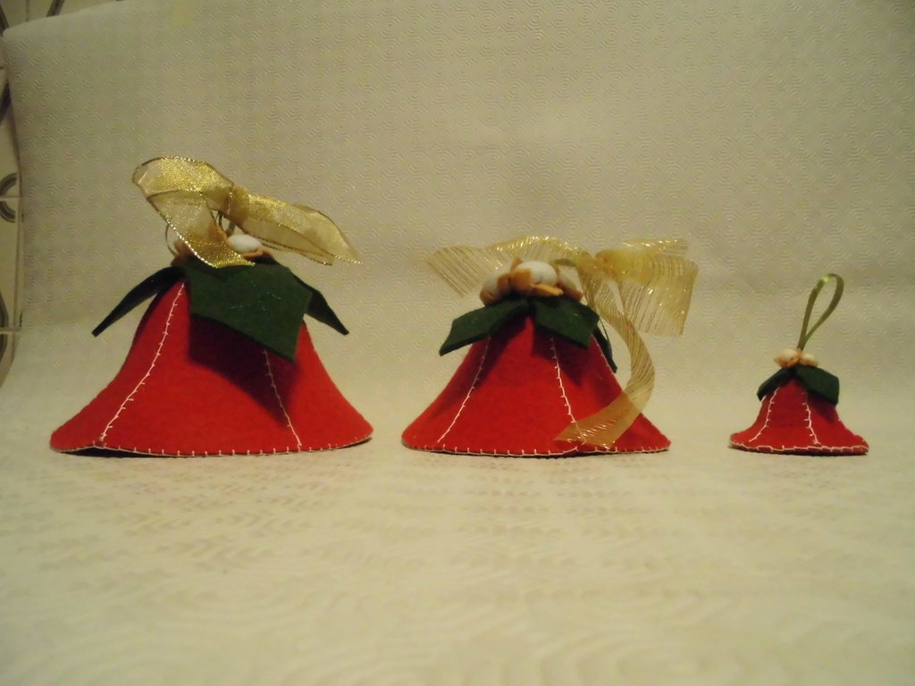 kit 3 campane piccole medie e grandi