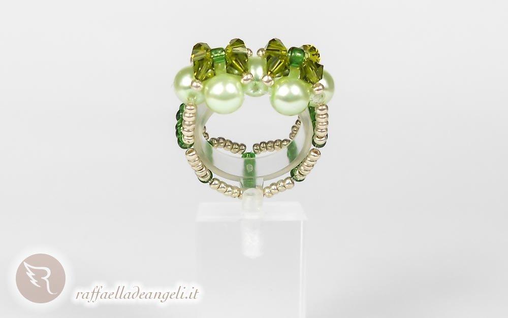 Anello con perle di Boemia Sabrina 02