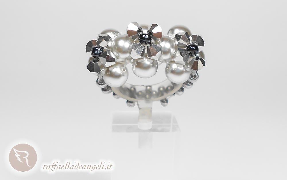 Anello con perle di Boemia Sabrina 03