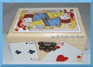 Scatoletta porta carte - cofanetto joker