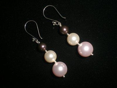 Cod. 0046 - Orecchini perle svarowsky