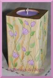 Porta lumino floreale - porta candela