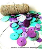 """Kit """"MakeUP"""" per collane con madreperla e filato di puro lino"""