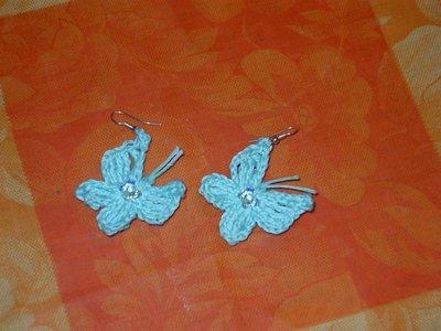 orecchini farfalle