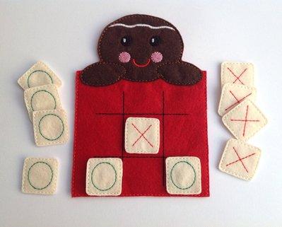 Gioco da tavolo in feltro- Gingerbread Tris