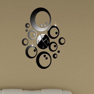 Orologio da parete moderno decorativo cerchi specchio for Specchio design moderno da parete