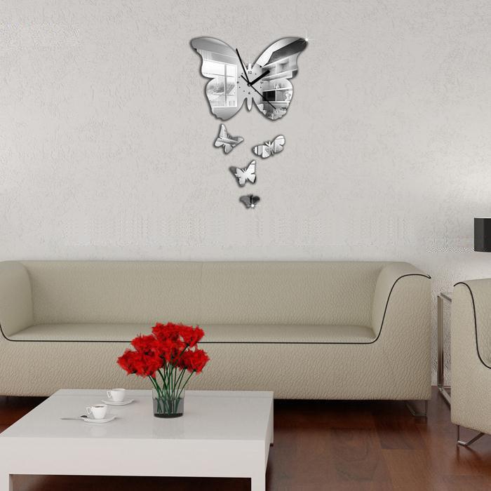Orologio farfalla da parete moderno d 39 arredo decorativo for Oggetti da parete design