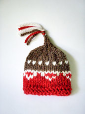 Cappellino per neonato / Bio baby / Abbigliamento Bambino / Cappellino bambini / Accessori neonato / Fatto a mano / Lana Biologica