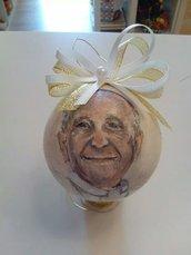 pallina di Natale Papa Francesco