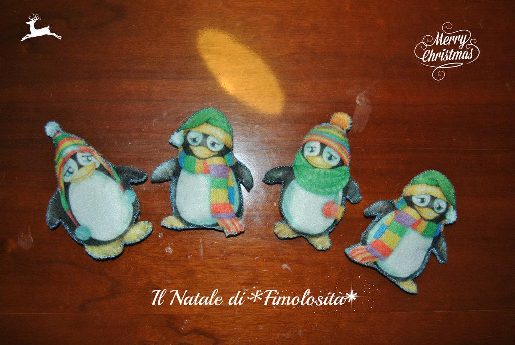 Pinguini in pannolenci