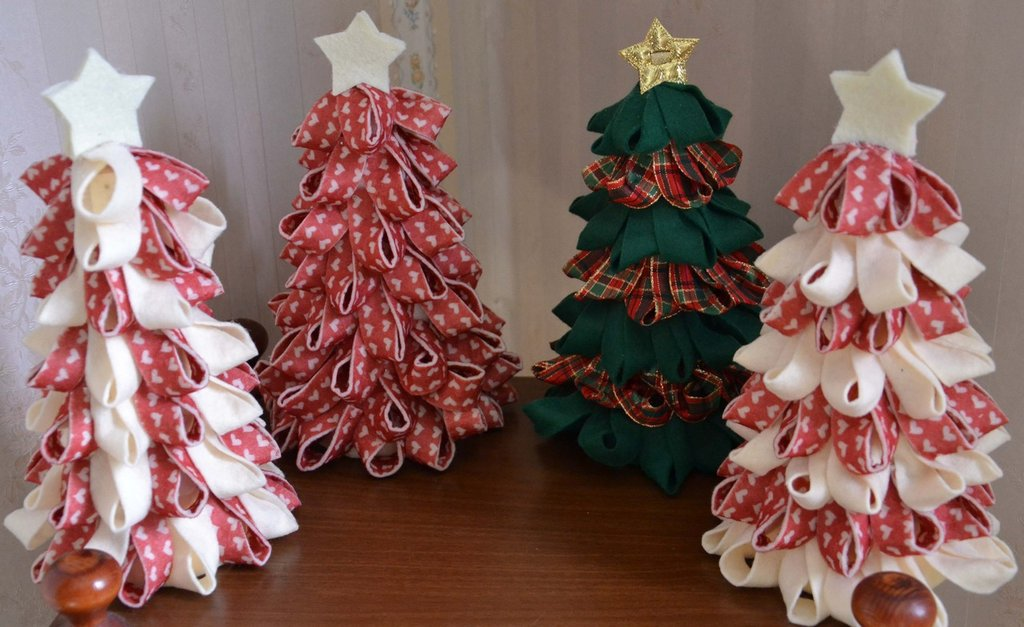 spesso Alberi di Natale in feltro su base di polistirolo - Feste - Natale  DV24