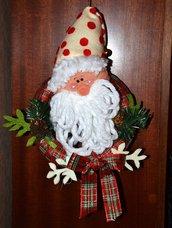 Ghirlanda con Babbo Natale