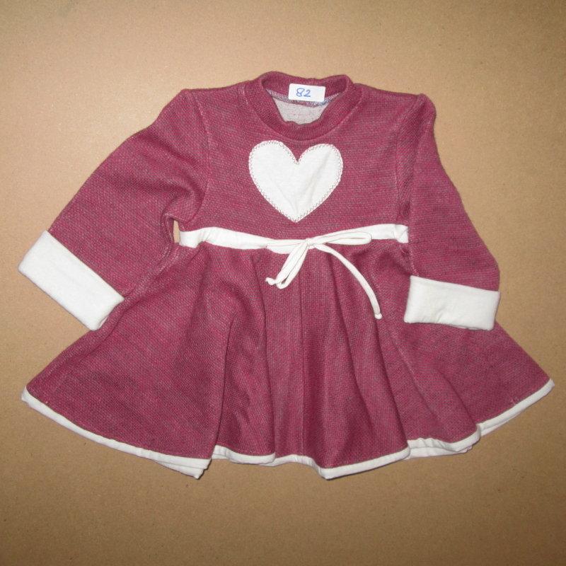 Vestito bimba fucsia con cuore