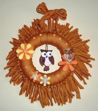 Ghirlanda Decorativa Fuoriporta o da Parete - Gufo Family^^