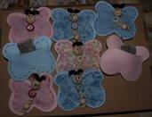Farfalle, profumatori per cassetti profumati con fiori di lavanda