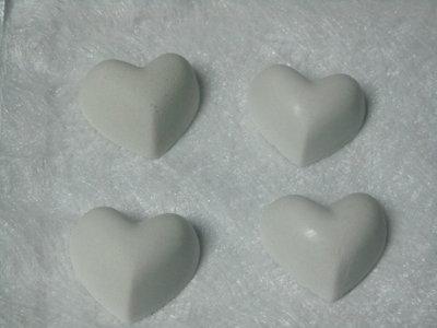 Gessetti profumati cuore liscio, 3 cm