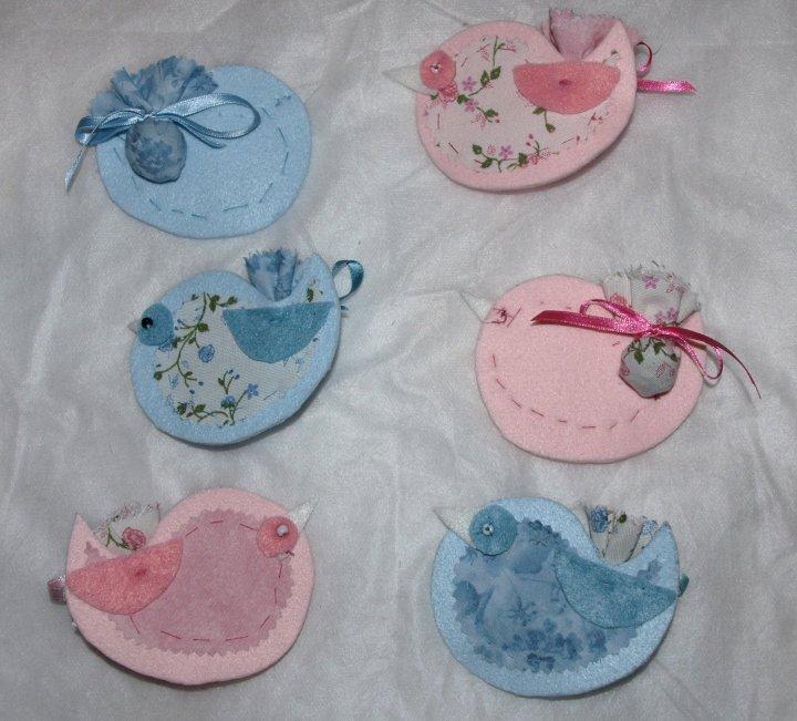 Uccellini, profumatori per cassetti ai fiori di lavanda