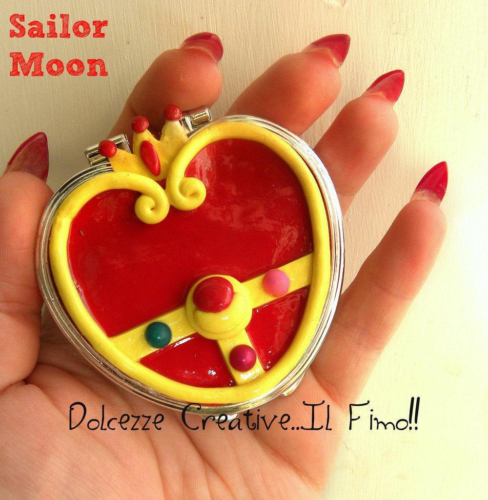 Specchietto Cristallo Del Cuore Sailor Moon diamante kawaii specchio idea regalo gadget