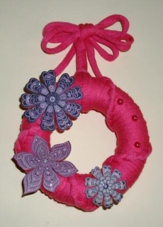 Ghirlanda Decorativa Fuoriporta o da Parete - Glitter Flowers^^