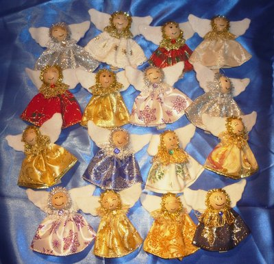 Angeli Decorazione Pacchi Molletta