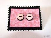 Orecchini candy nero&rosa