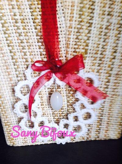 Corona di Natale in chiacchierìno con perla pendente