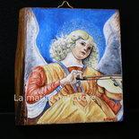 "Miniatura dipinta su legno""Angelo con viola""Melozzo da Forlì"