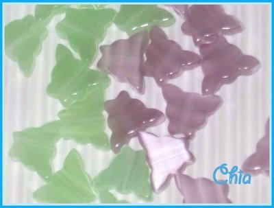 *OFFERTA*12 farfalline verdi o lilla cat's eye-occhio di gatto