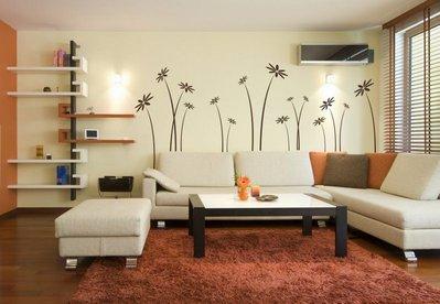 Adesivo per le pareti fiori (258n)