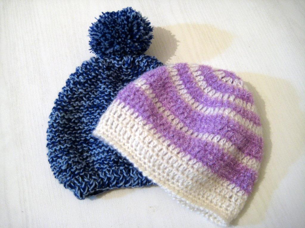 Cappellini bimbo / bimba in lana