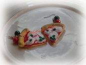 Orecchini Trancio di Pizza alla Bufala
