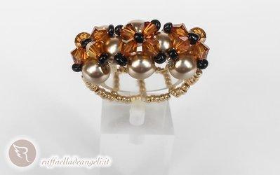 Anello in perle di Boemia Sabrina 04