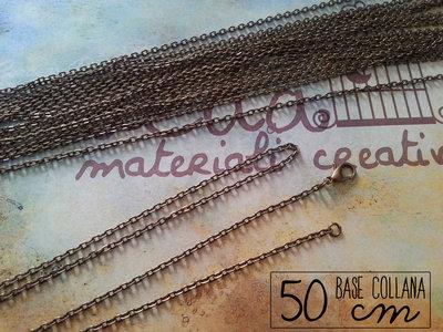 Base collana bronzo 50 cm