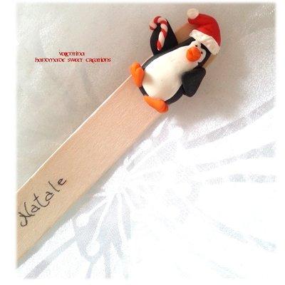 Segnalibro Idea regalo Natale Pinguino