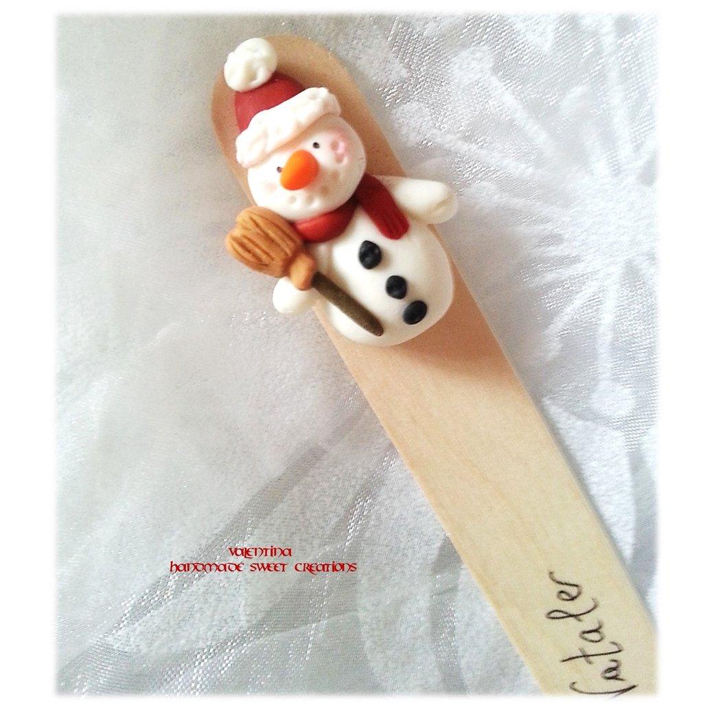 Segnalibro Idea regalo Natale Pupazzo di neve