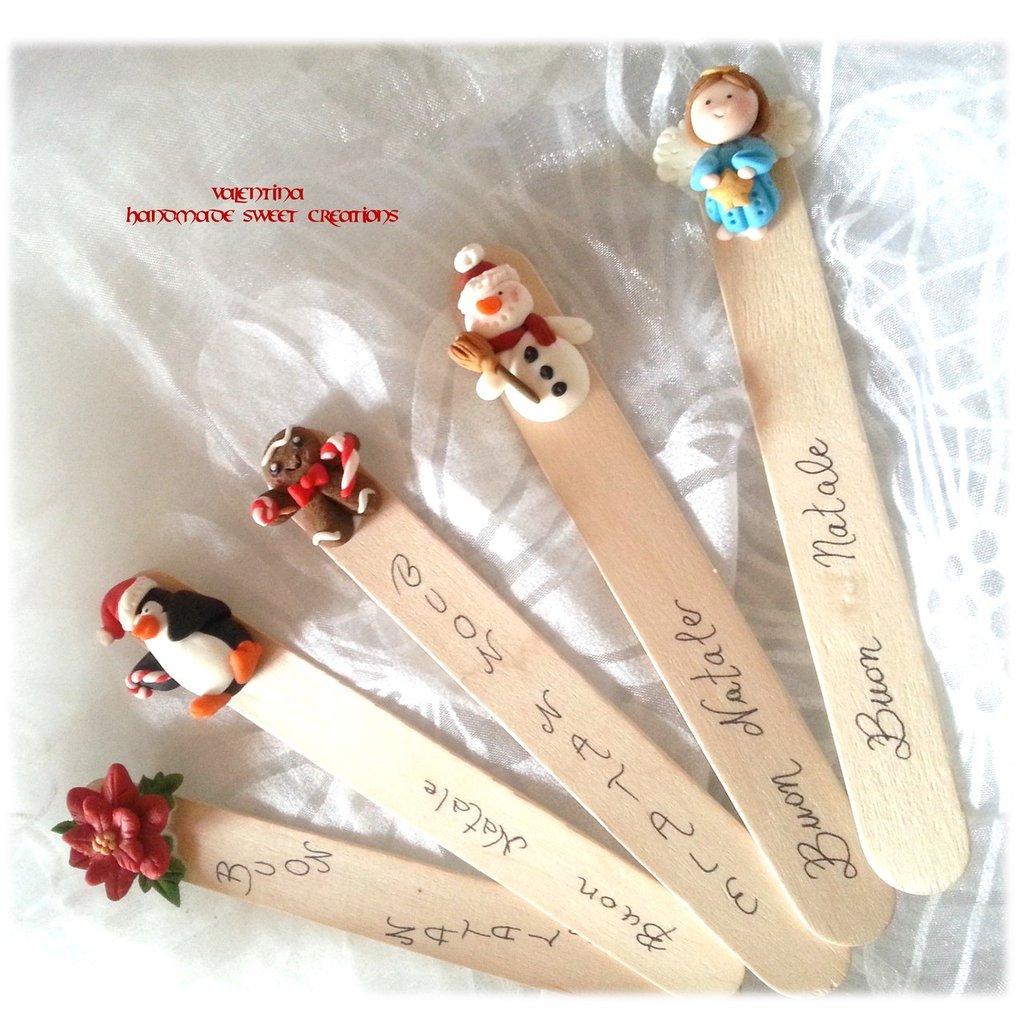 Segnalibro Idea regalo Natale gingerbread man pan di zenzero