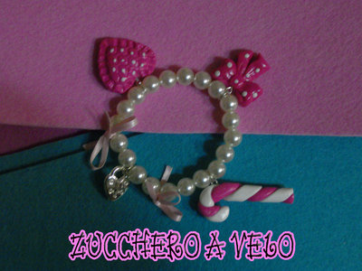 braccialetto con charms in fimo
