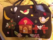 Borsa in lana cotta marrone