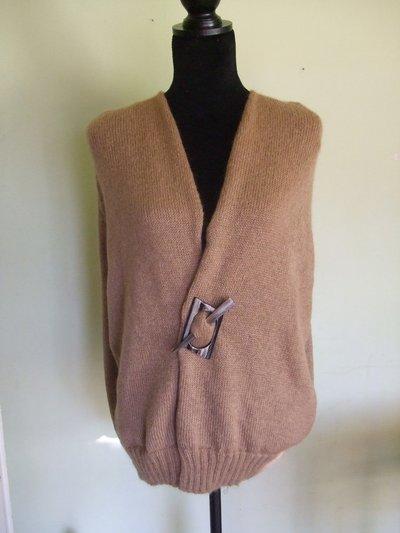 smanicato poncio gilet donna lana maglia