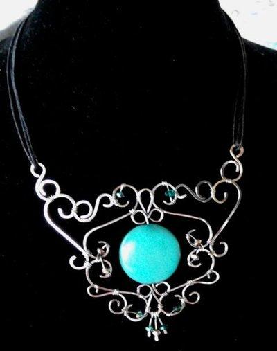 collana wire in acciaio - rigida
