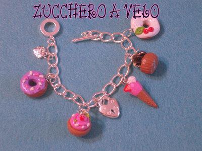 braccialetto con mini dolcetti