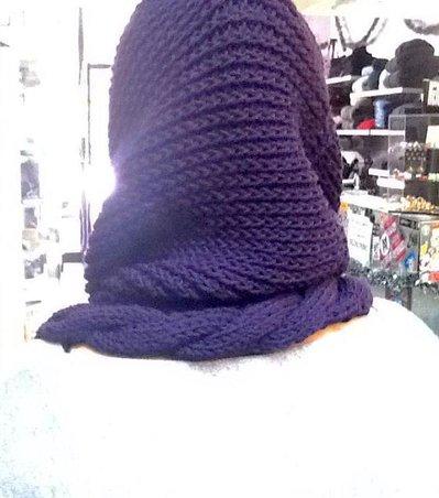 Collo/scaldacollo donna in lana merino e mohair