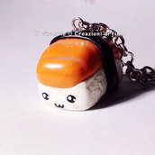 Collana Nighiri di Salmone: Sushi Kawaii in Fimo