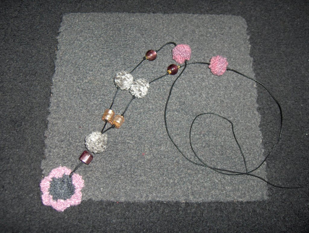 Collana ad uncinetto/crochet necklace